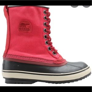 Rare Cherry Red Sorel Winter Boots